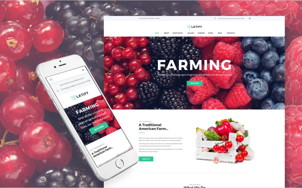 Fruit Store WordPress Theme
