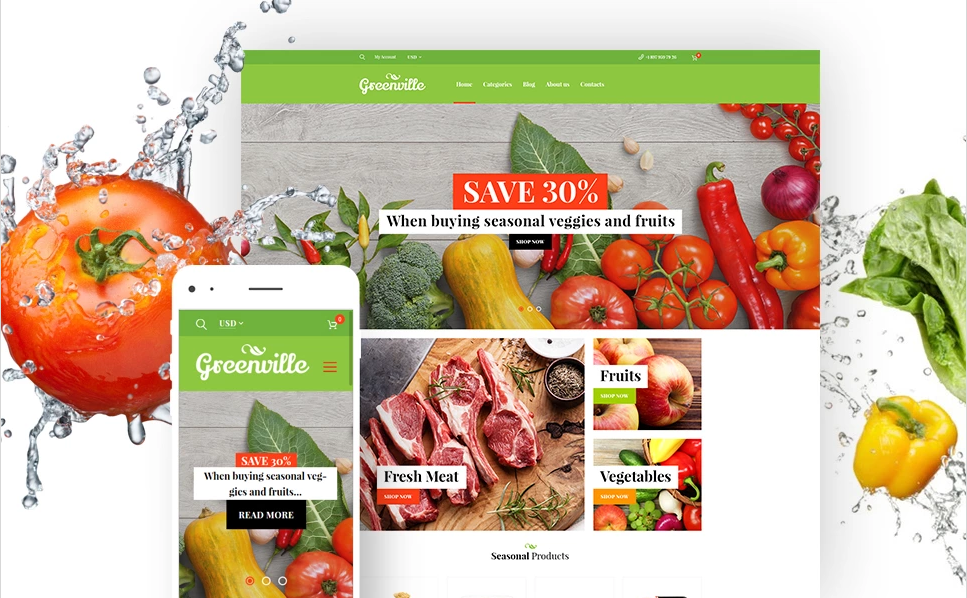 WooCommerce Fruits Store Template