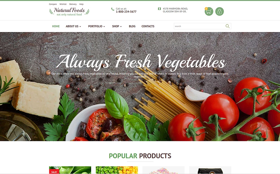 WordPress Template For Fruit Stores