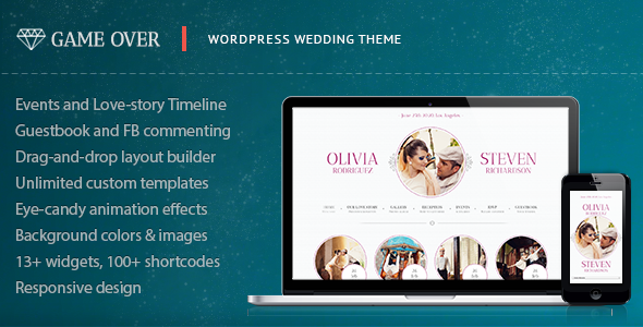 7 Stunning WordPress Wedding Events Planning Marriage Themes