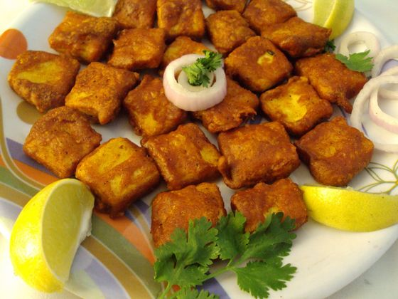 Indian finger food, paneer pakora