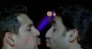 abhishek bachchan and John Abraham Kiss
