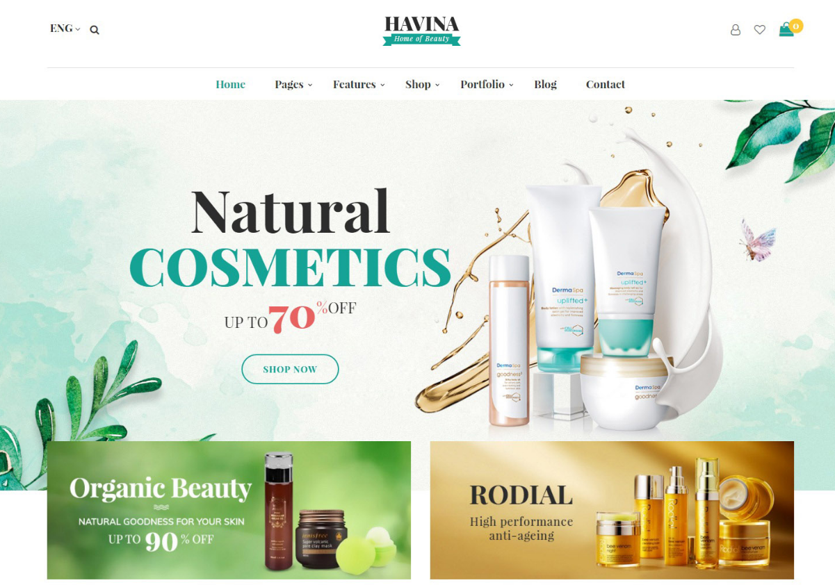 Beauty Store Magento Themes