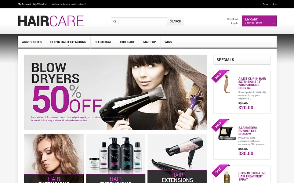 Magento Beauty Store Theme