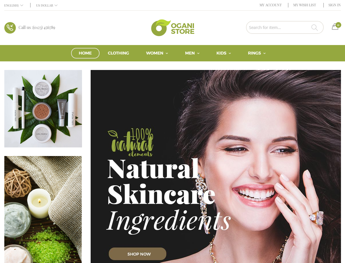Beauty Cosmetic Store Magento Theme