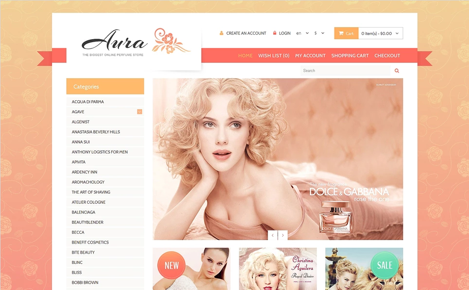 OpenCart Responsive Beauty Store Theme