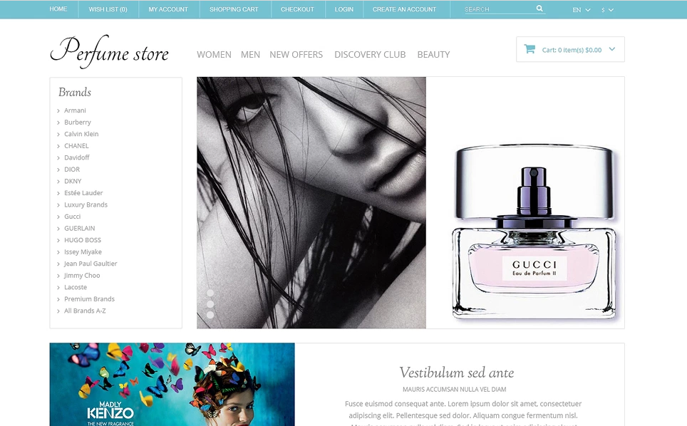 Cosmetics & Beauty Store OpenCart Theme
