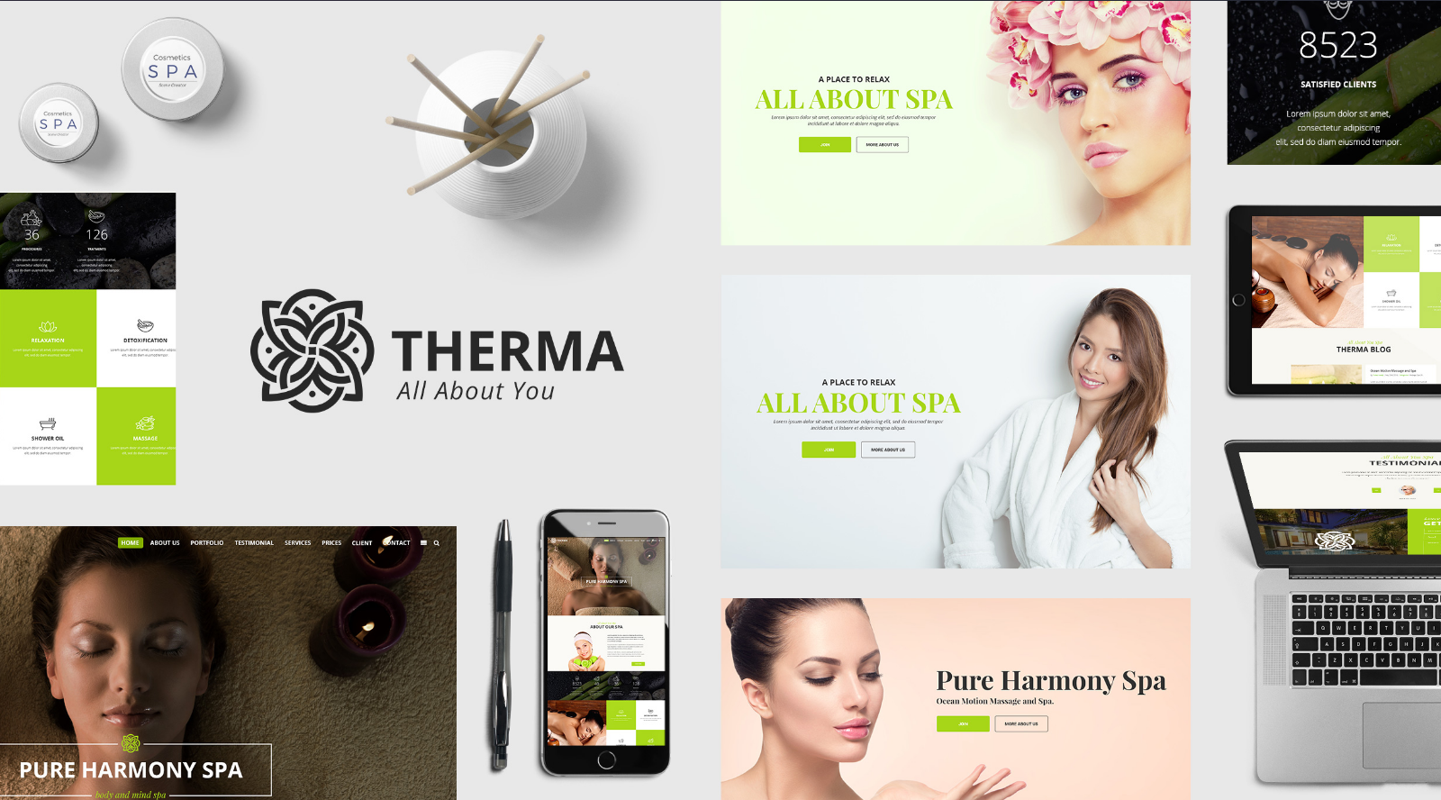 WordPress Beauty Shop Theme