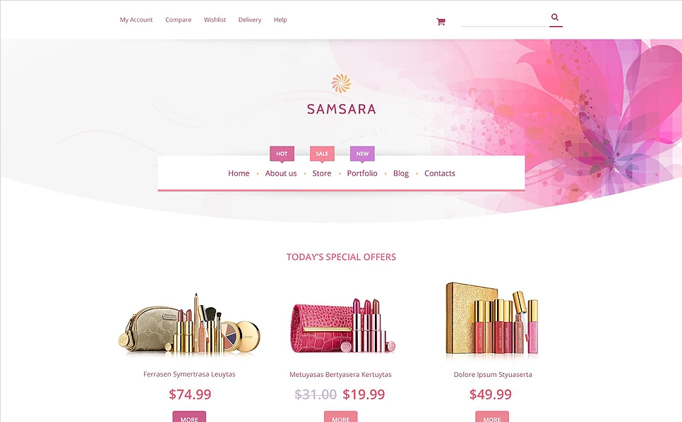 WordPress Beauty Template