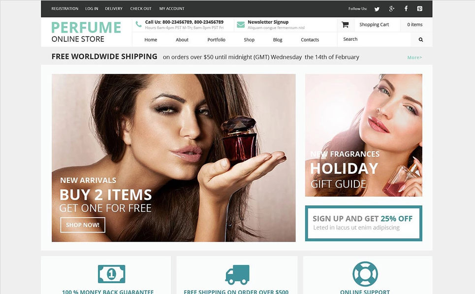 Beauty store WOoCommercerce Theme