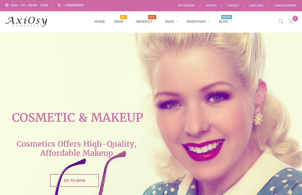 Beauty Store WordPress Theme