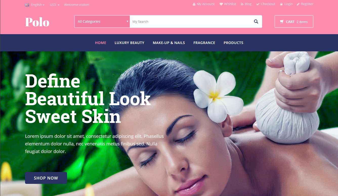 WooCommerce WordPress themes for beauty store