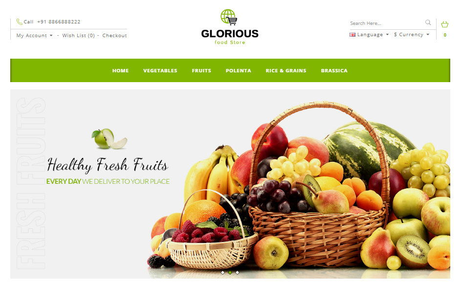 17 Of The Best Fruit Store OpenCart Themes 2017 - Indiamarks