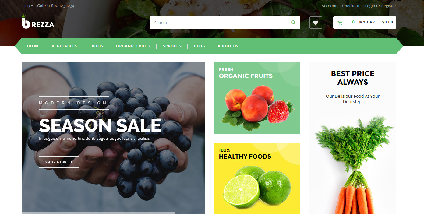 Fruit Store Shopify Themes
