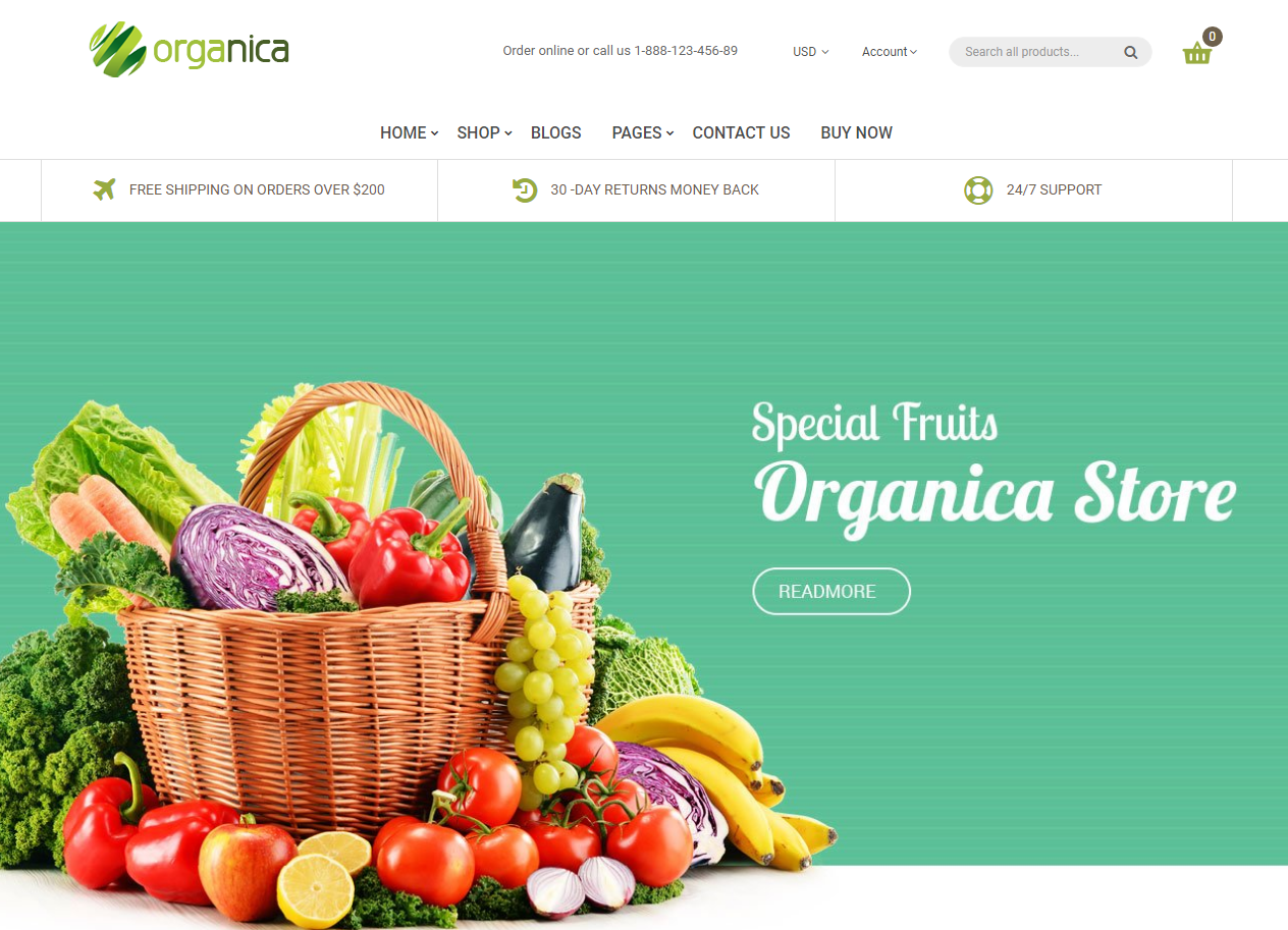 Elegant Theme for Shopify Fruit Store