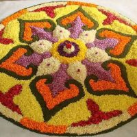rangoli design with flowers
