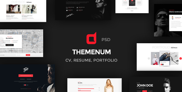 Cv Resume And Portfolio Psd Templates  Indiamarks