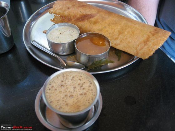 things to do in Bangalore, masala dosa and filter coffee