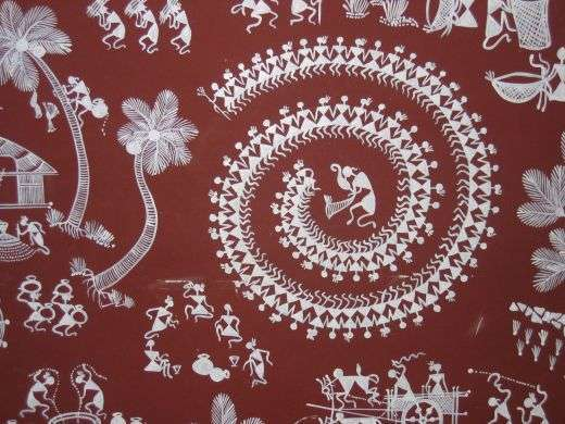 The ancient indian folk art tradition of warli warli paintings are the ancient indian folk art tradition of warli tribe in indian state of maharashtra warli or varli altavistaventures Image collections