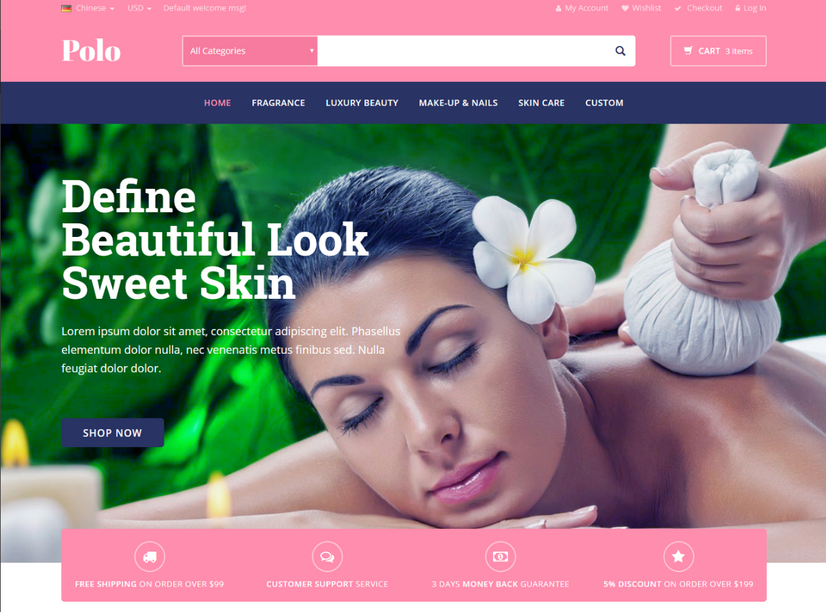 Magento Beauty Store Template