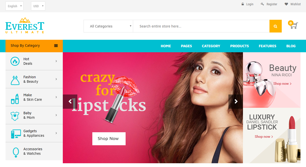 Beauty Magento Themes and Templates